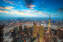 Shanghai in sunset Stock Photography