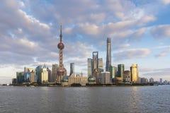 Shanghai at sunset Stock Image