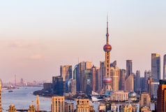 Shanghai sunset Royalty Free Stock Image