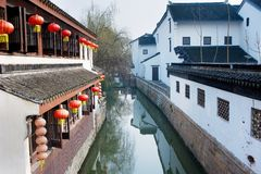 Shanghai Suzhou. Ancient Suzhou, ancient streets, rivers and lakes Features royalty free stock image