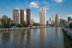 Shanghai Suzhou River Royalty Free Stock Photos