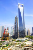 Shanghai SWFC and Jin Mao Tower Stock Images