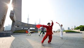 Shanghai Tai Chi Stock Image