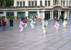 Shanghai tai chi sword Stock Images