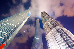 Shanghai 3 tallest buildings Royalty Free Stock Image