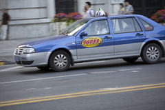 Shanghai taxi on road Royalty Free Stock Photography