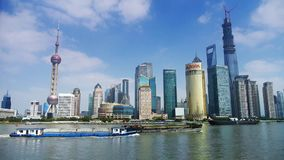Shanghai timelapse,Lujiazui economic Center,busy shipping. Gh2_06822 stock footage