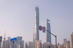 Shanghai torn och finansiell mitt Royaltyfri Foto