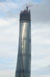 Shanghai torn under konstruktion Arkivbild