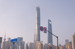 Shanghai Tower and Financial Center Royalty Free Stock Photo