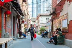 Shanghai traditional alley Royalty Free Stock Image