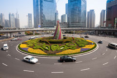 Shanghai Traffic building Stock Image