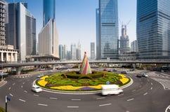 Shanghai Traffic building Stock Photo