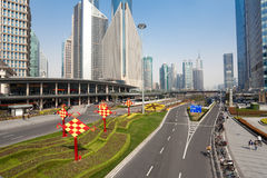 Shanghai Traffic building Royalty Free Stock Images