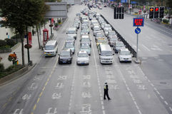 Shanghai Traffic in China Royalty Free Stock Photo