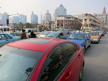 Shanghai Traffic Jam Stock Photo