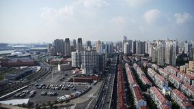 Shanghai traffic,urban building background,china. stock video footage