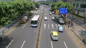 Shanghai traffic  video stock footage
