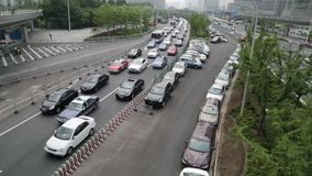Shanghai traffic video stock video