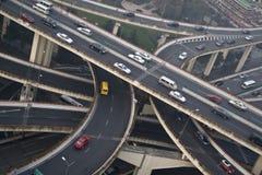 shanghai trafik Royaltyfri Foto