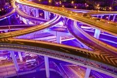 shanghai trafik arkivbilder
