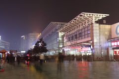 Shanghai Train Station at night. Stock Images
