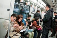 Shanghai tunnelbana Royaltyfri Foto