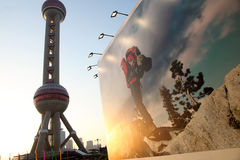 Shanghai TV Tower. Royalty Free Stock Image