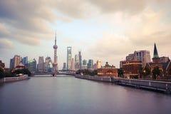 Shanghai at twilight Royalty Free Stock Photos