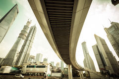 Shanghai Urban Construction, Pudong Royalty Free Stock Photo