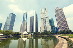 Shanghai  Urban landscape and modern architecture Royalty Free Stock Photography