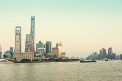 Shanghai Urban landscape and modern architecture at night Royalty Free Stock Photo