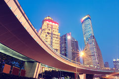 Shanghai  Urban landscape and modern architecture Night view Royalty Free Stock Photography