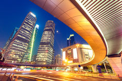 Shanghai  Urban landscape and modern architecture Night view Royalty Free Stock Photos