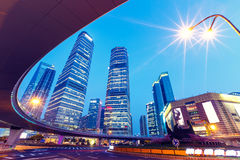 Shanghai  Urban landscape and modern architecture Night view Royalty Free Stock Image