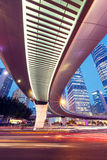 Shanghai  Urban landscape and modern architecture Night view Stock Photography