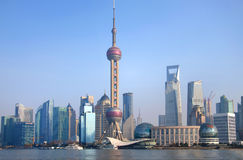 Shanghai Urban, Skyline Royalty Free Stock Images