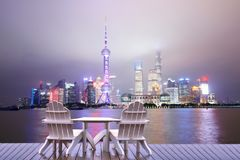 Shanghai vacation, relaxing in Shanghai stock image