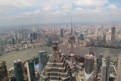 Shanghai van de mening van de vogel Royalty-vrije Stock Foto's