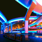 Shanghai viaduct Royalty Free Stock Photo