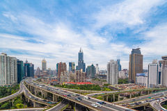 Shanghai viaduct Royalty Free Stock Photography
