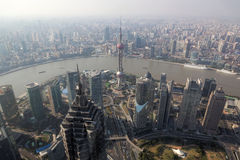 Shanghai, View From Financial Center, China Stock Photography