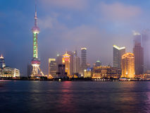 Shanghai view over Pudong area Royalty Free Stock Photo