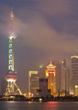 Shanghai view over Pudong area Royalty Free Stock Images