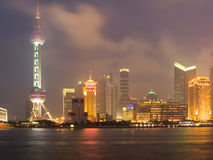 Shanghai view over Pudong area Stock Images