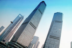 SHANGHAI  view of skyscrapers Pudong Royalty Free Stock Photos