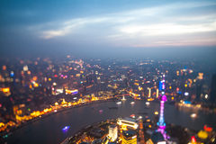 Shanghai. View from shanghai tower. TS-E 24II Royalty Free Stock Photography