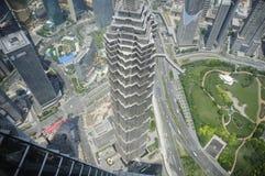 Shanghai von oben Lizenzfreies Stockfoto