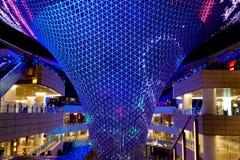 Shanghai-Weltausstellungs-Achsen-Sonnenstrahllichtshow Lizenzfreie Stockfotografie