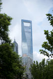 Shanghai-WeltFinanzzentrum Stockbilder